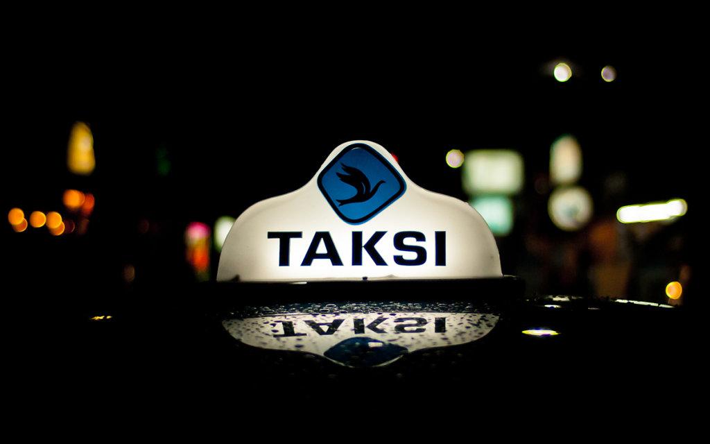 Shining example of a  balinese cab sign, Kuta - Bali
