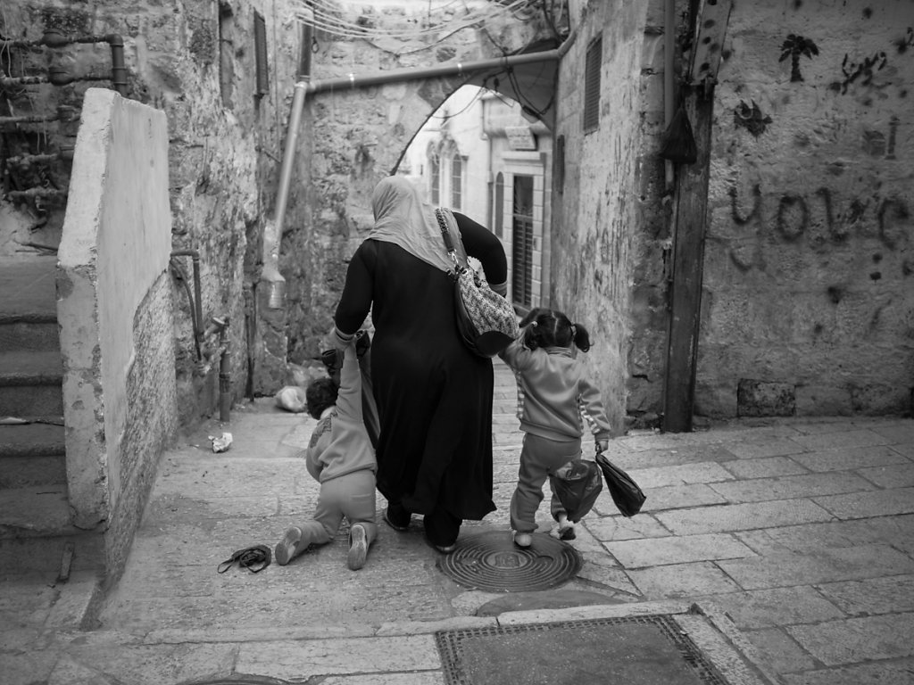 """Leave me behind, I can't make it"", Muslim Quarter - Jerusalem"