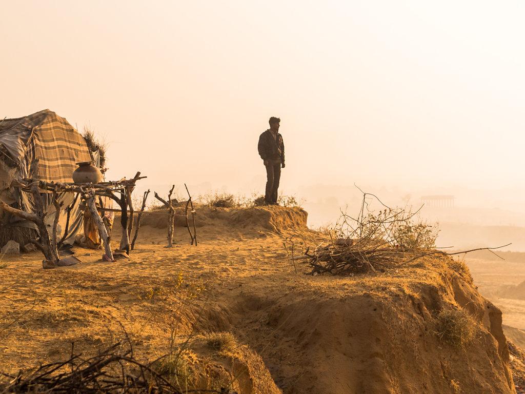 Lonesome. Village near Pushkar - Rajasthan