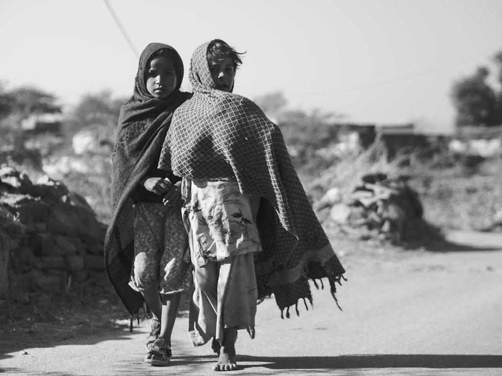 Kids in Sisarma Village, Udaipur - Rajasthan