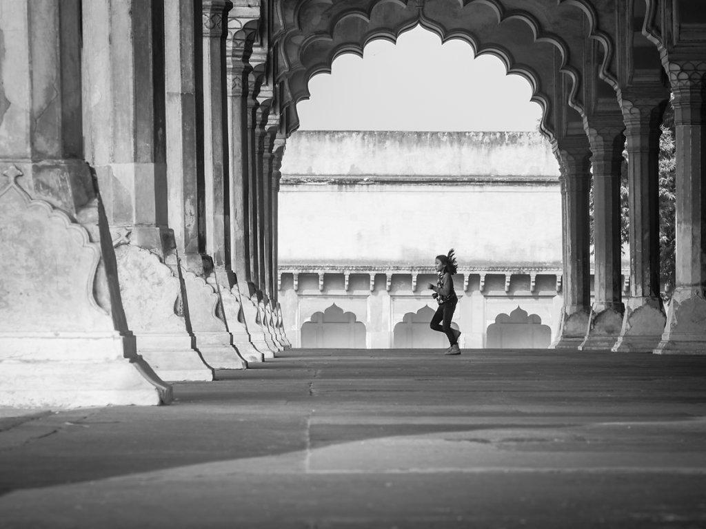 The hall of public audience, Agra Fort - Uttar Pradesh