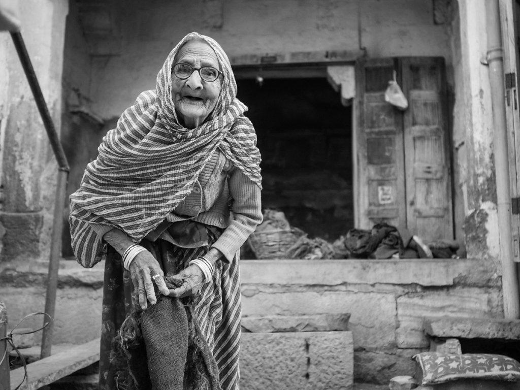 87 years, Blue City - Jodphur - Rajasthan